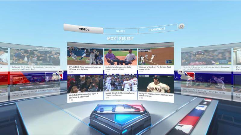 VR 野球観戦 MLB At Bat VR