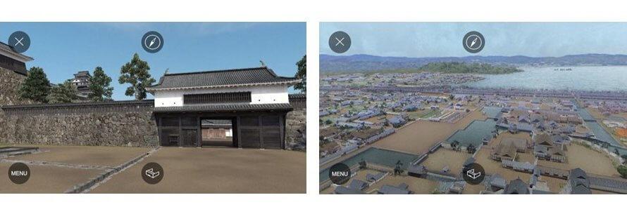 江戸時代の「国宝松江城」と「水都 松江」をARとVRで再現
