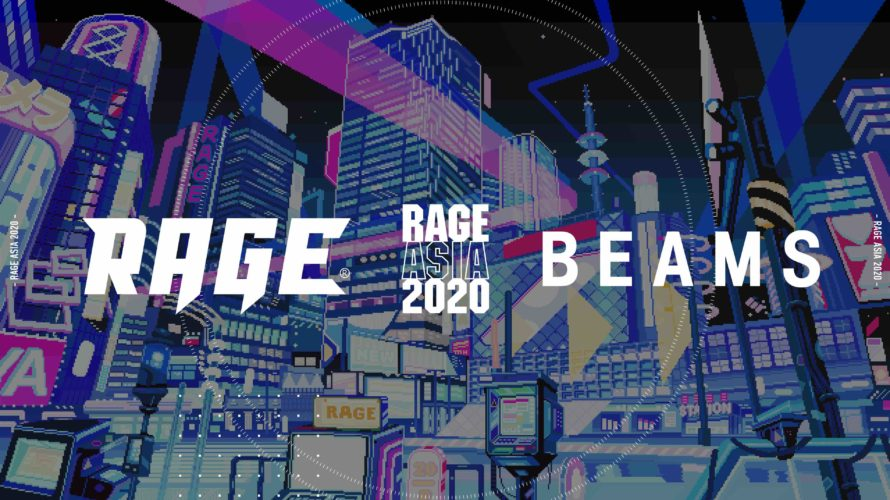 BEAMS、eスポーツ国際大会「RAGE ASIA 2020」のオフィシャルTシャツをデザイン