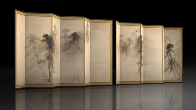 東京国立博物館と凸版印刷、国宝「松林図屛風」の新作VR初公開