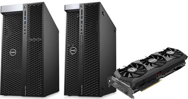 DCC/VR向けのアスク推奨モデルとして、デル社製ワークステーション Dell Precision 7920 Tower/5820 TowerとZOTAC社製グラフィックボードの組み込みモデルを発売