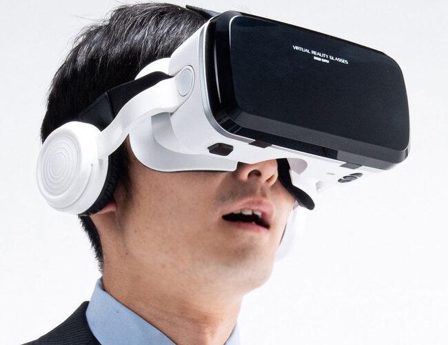 スマホを設置するだけで簡単にVR映像を楽しめるBluetoothコントローラー内蔵ヘッドホン付きVRゴーグルを発売