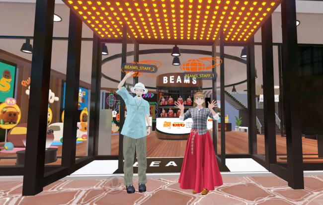 BEAMSのバーチャルショップで社員がアバターを操作してリアルタイムで接客、スマホやPCで手軽に体験できるWeb to VRも公開中
