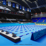 Sansan KBCオーガスタゴルフトーナメント2021で、来年開催の世界水泳選手権メイン会場のVRを初お披露目