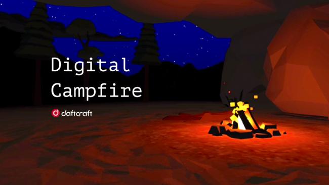 """リモートでの組織作りに""""暖かさ""""を。ダフトクラフトがVRコミュニケーションアプリ「Digital Campfire」体験版を提供開始"""